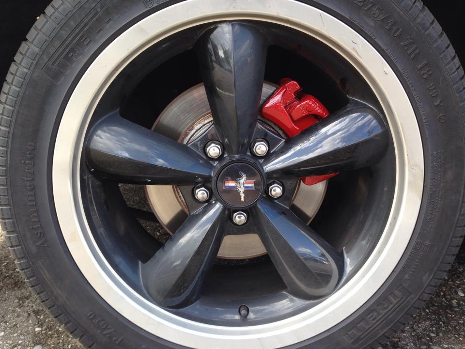 Bremssattel in Rot - frisch lackiert