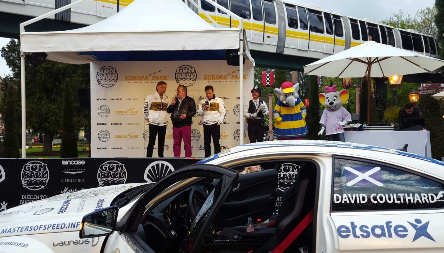 David Coulthard aus Schottland, der in seinem Leben auf knapp 300 Grand-Prix-Rennen (davon 13 Siege) der Formel 1 kommt und Botschafter der Stiftung Wings for Life ist.