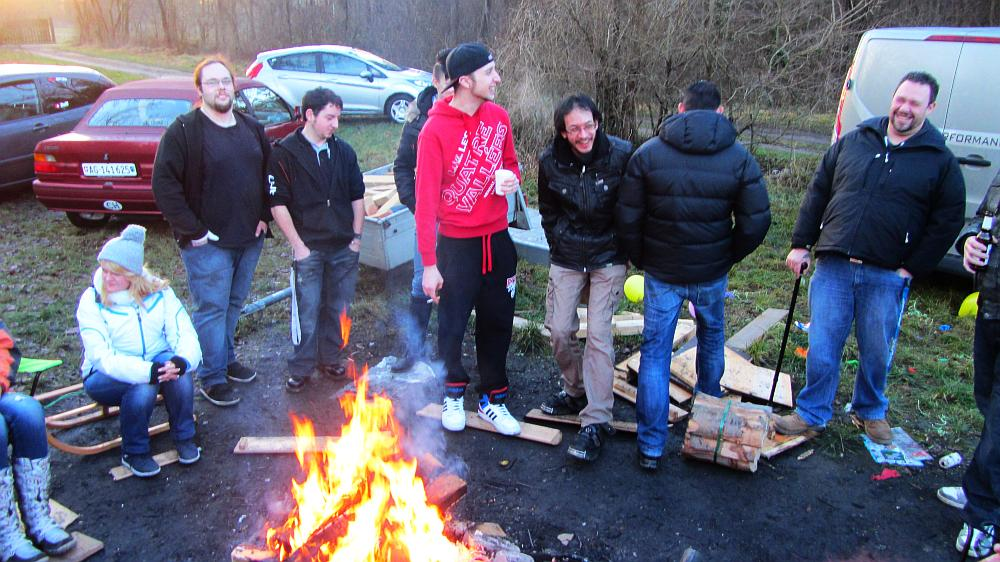 Ford Freaks am Lagerfeuer
