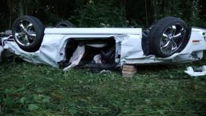 Sieht böse aus: Mustang nach dem Unfall