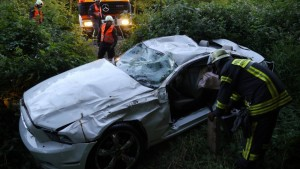 Ford Mustang Unfall in Freiburg