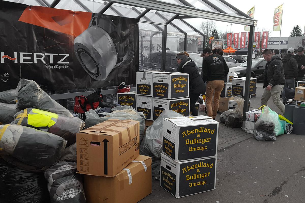 """Charity Aktion """"Tuner spenden Wärme"""" Spendensammelstelle Germersheim: Spenden kamen Kistenweise"""